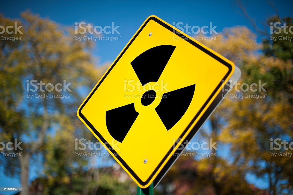 Radioactive sign / Warning sign (Click for more) stock photo