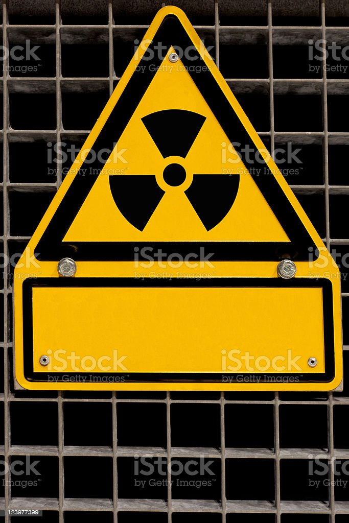 Radioactive Sign with copyspace royalty-free stock photo