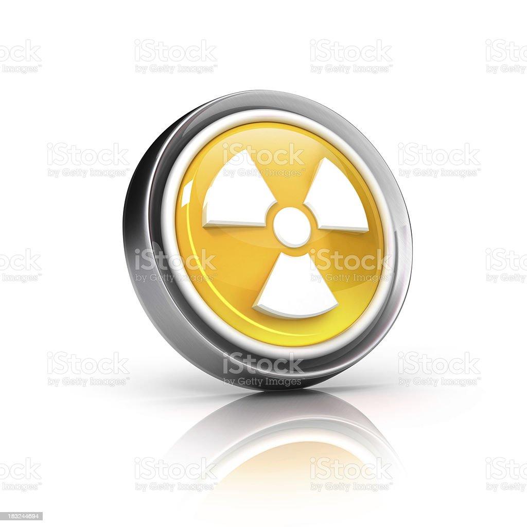 radioactive Symbol Icon stock photo