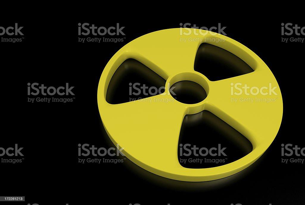 Radioactive Symbol royalty-free stock photo