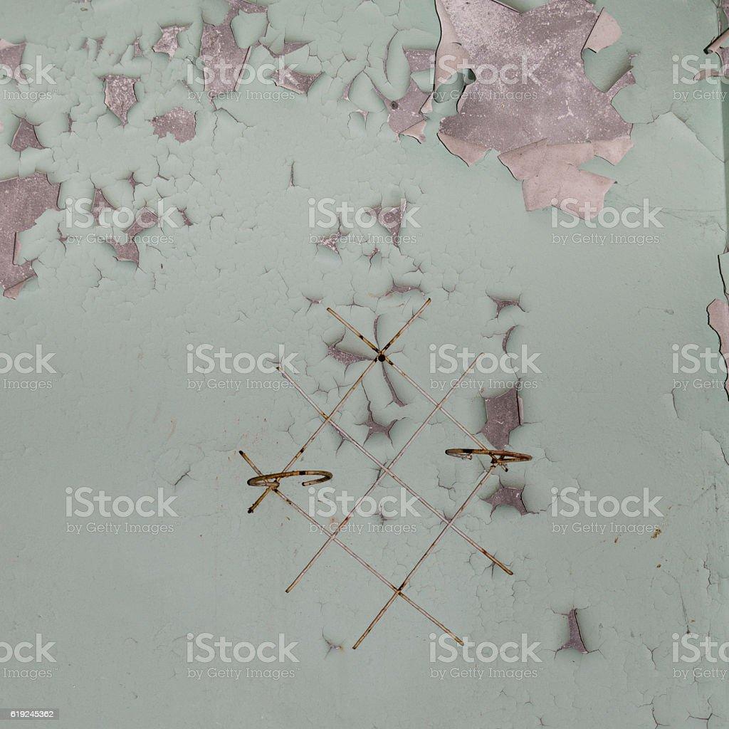 Radioactive wall stock photo