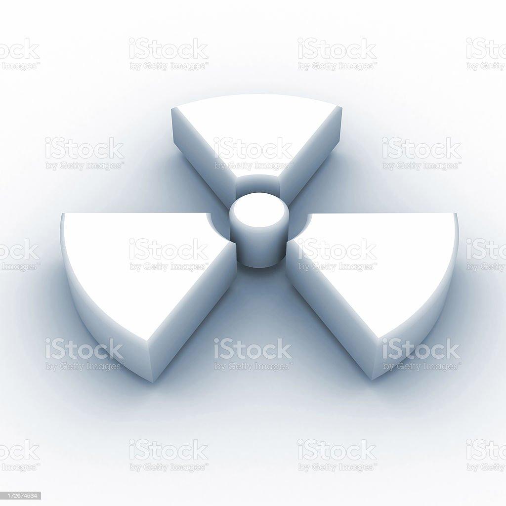 Radioactivity 3D Sign royalty-free stock photo