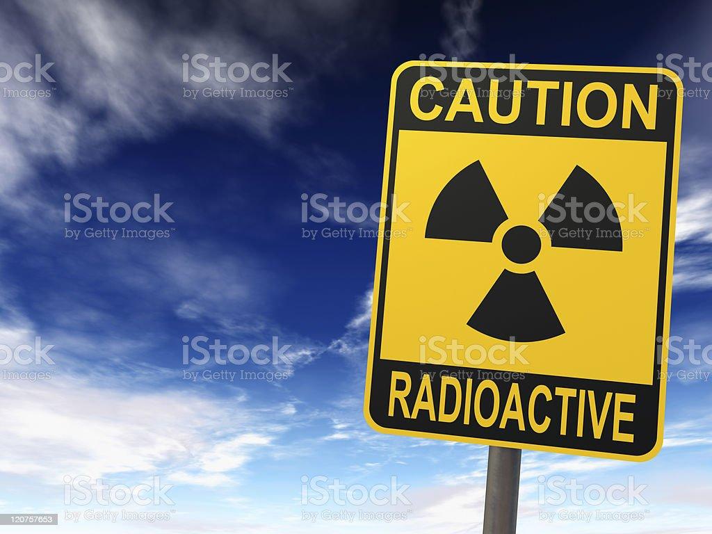 Radioactivity Sign stock photo
