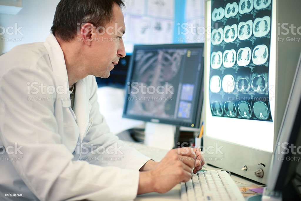 Radiologist doctor stock photo