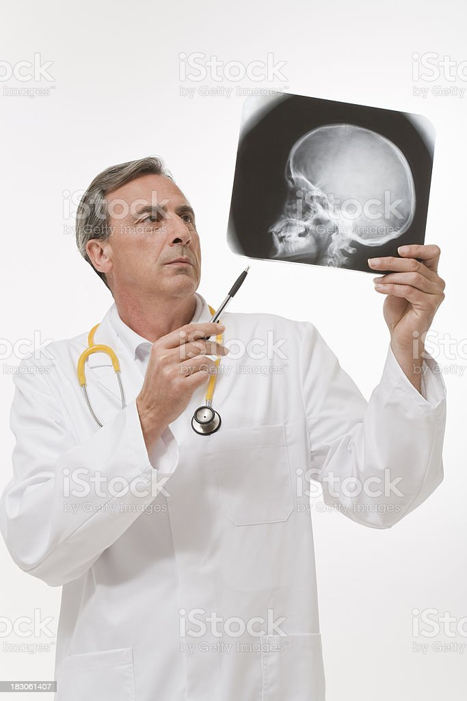 Radiologist reviewing a radiography stock photo