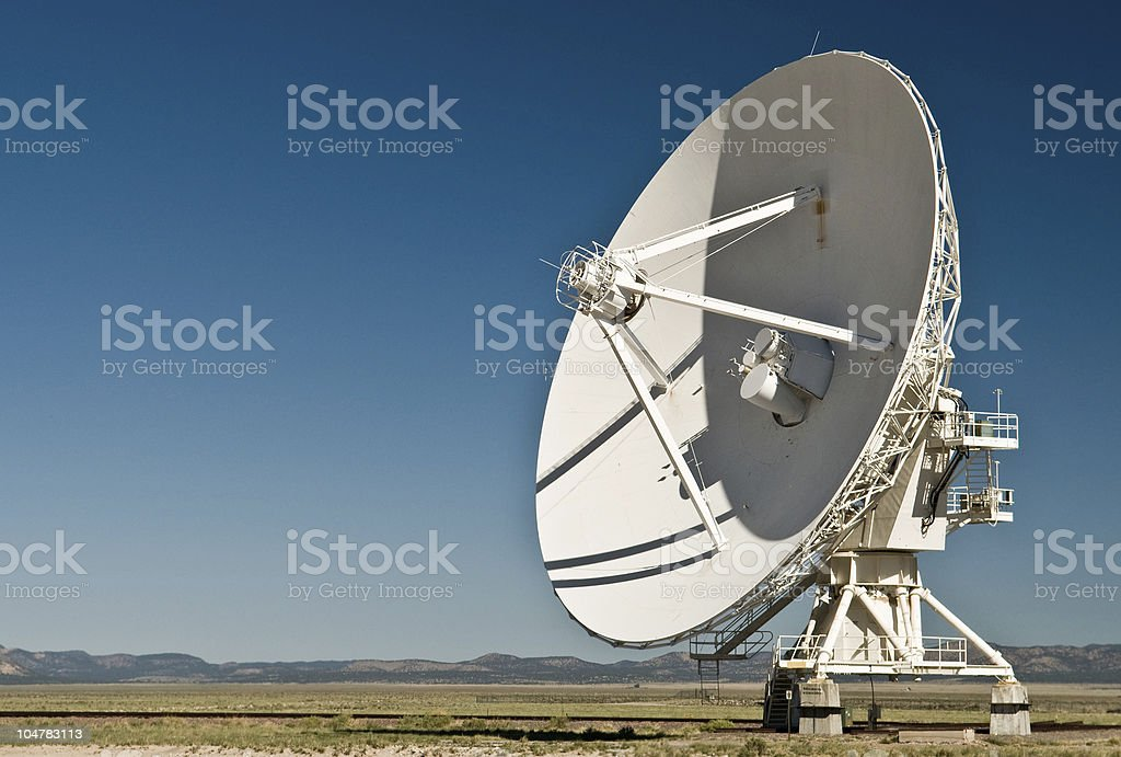 Radiotelescope at the Very Large Array, New Mexico royalty-free stock photo