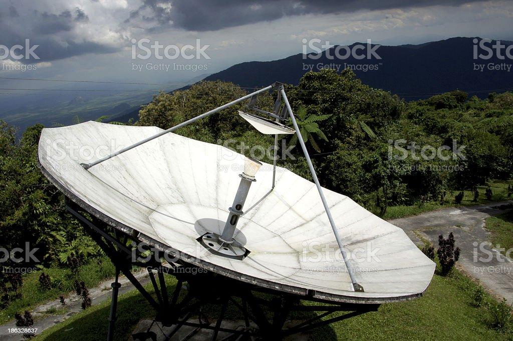 Radiotelescopes at the Mountain. royalty-free stock photo