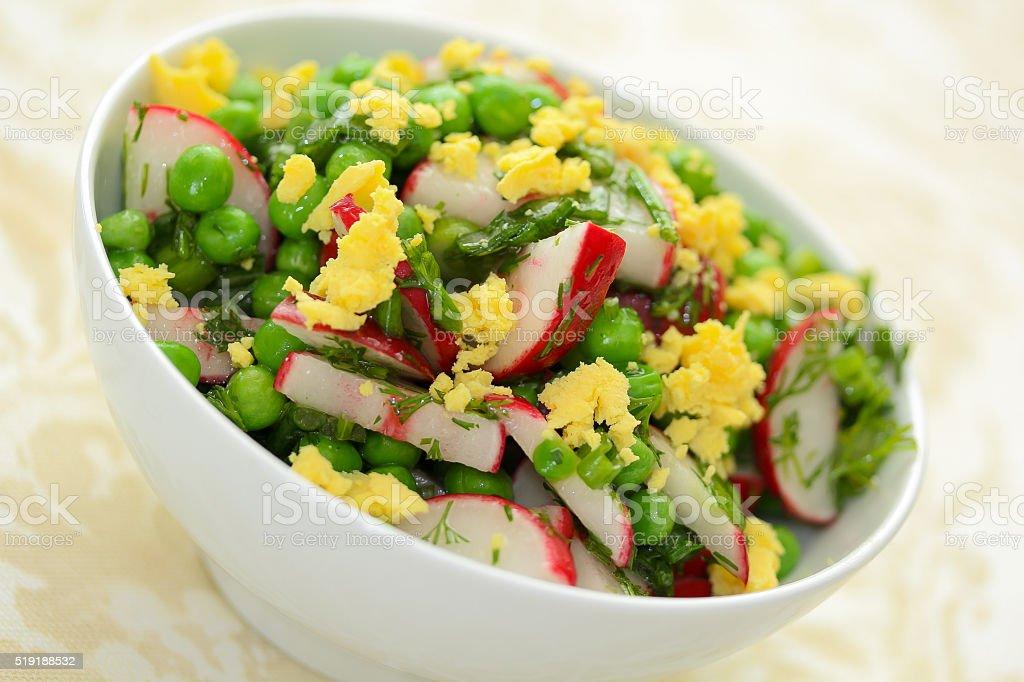 Radish and Green Peas Salad stock photo
