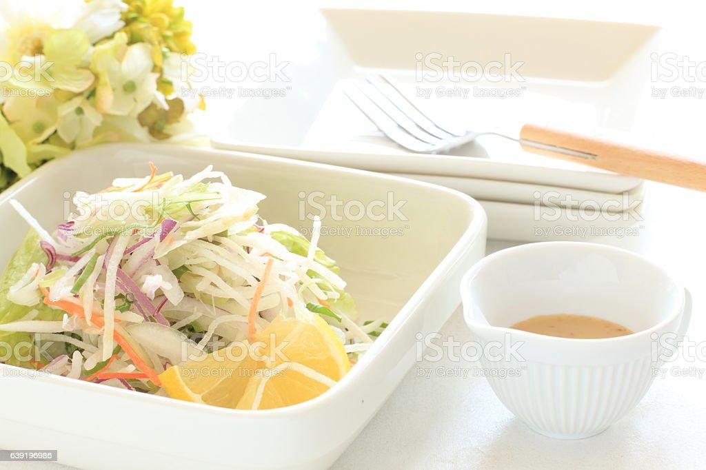 Radish and lemon stock photo