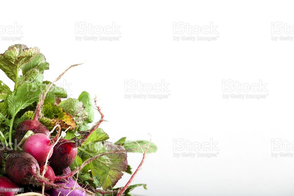 Radish on table stock photo