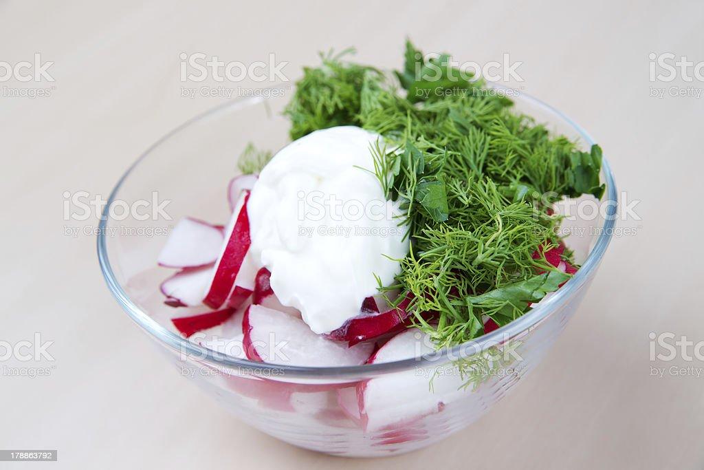 Radish salad royalty-free stock photo