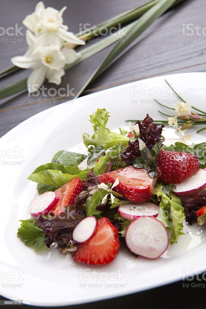 Radish Strawberry salad royalty-free stock photo