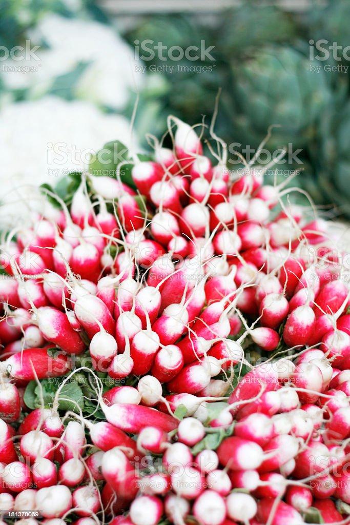 radishes at the market royalty-free stock photo