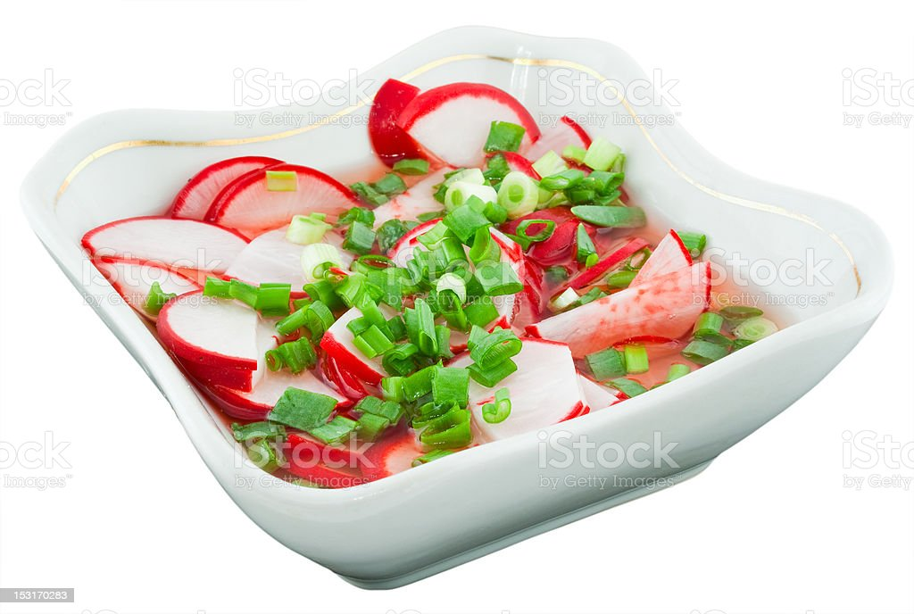 radishes in vinegar royalty-free stock photo