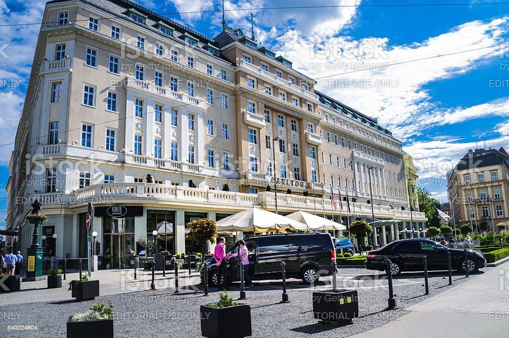 Radisson Blu Carlton Hotel stock photo
