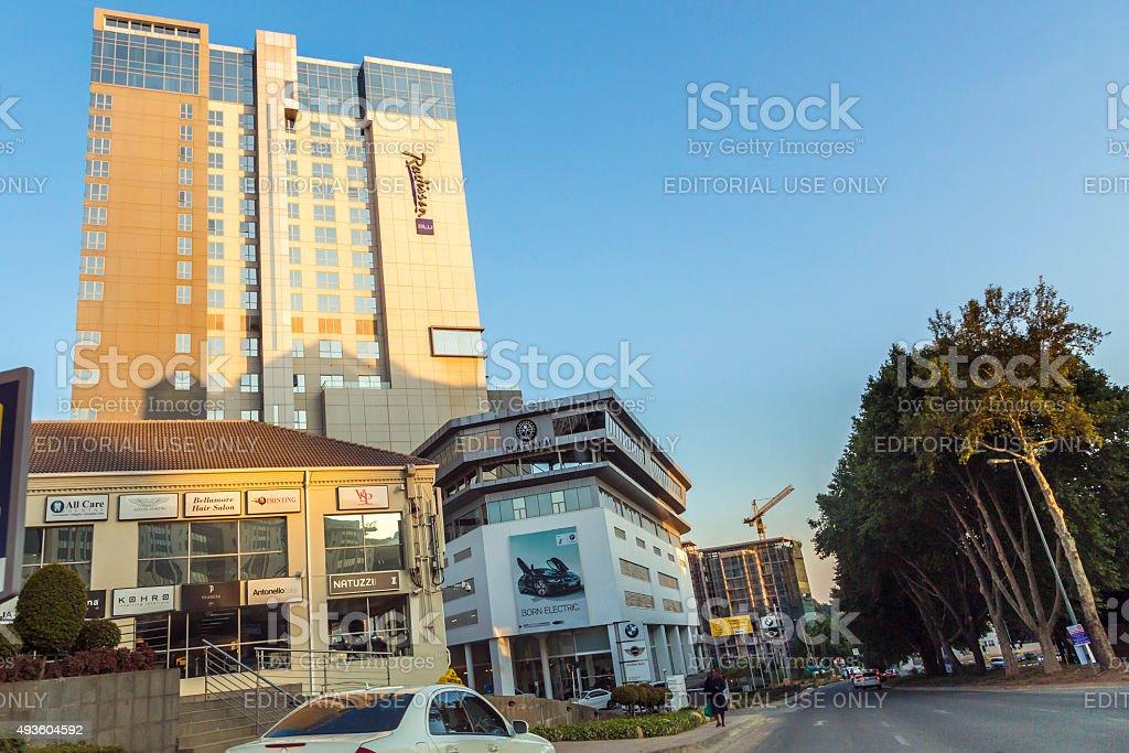 Radisson Blu Hotel in Sandton City stock photo