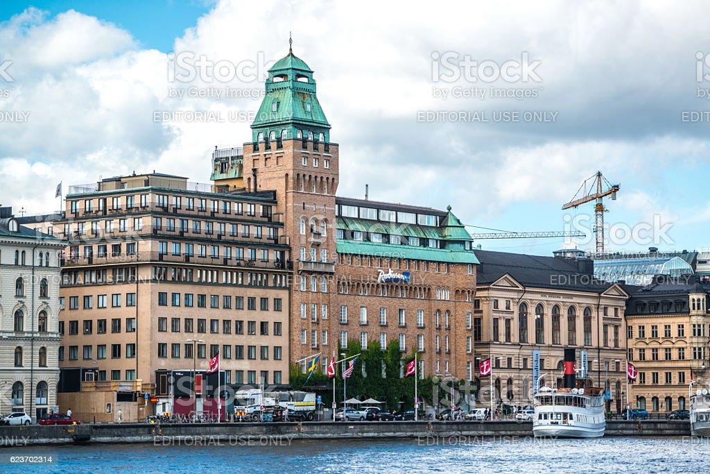 Radisson Blu Hotel, Stockholm, Sweden stock photo