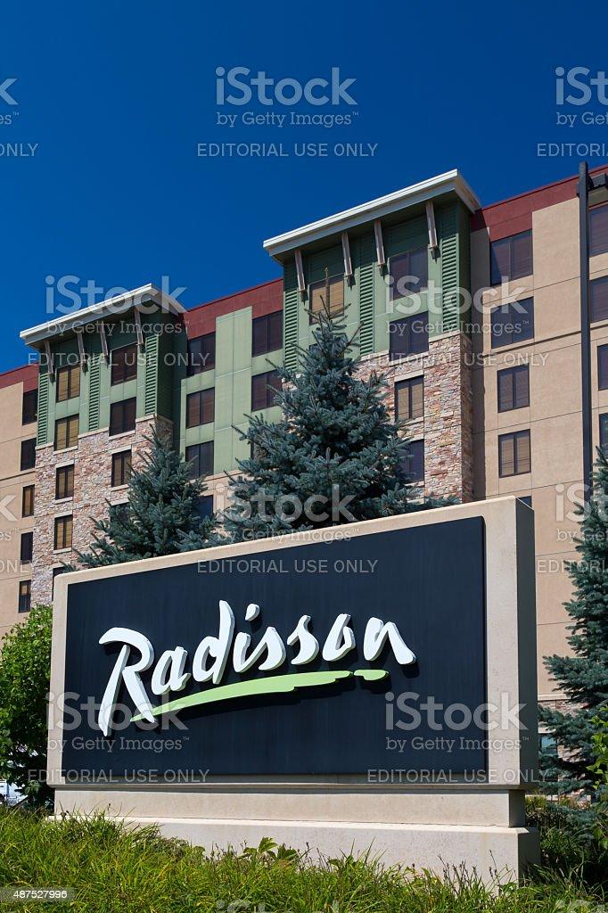 Radisson Hotel and Sign stock photo