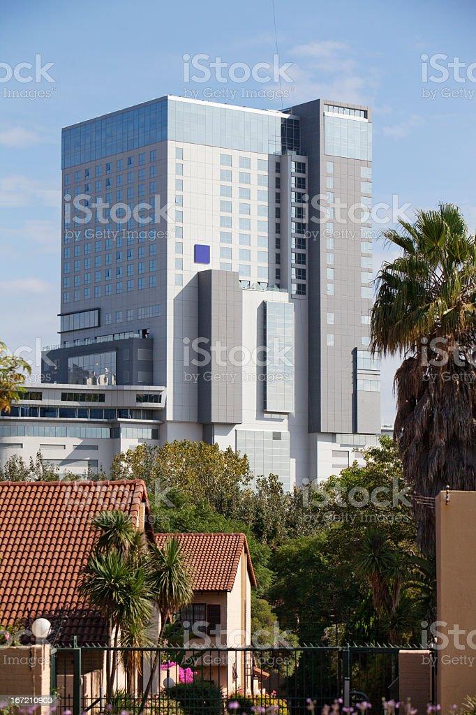 Radisson Hotel Building in Sandton stock photo