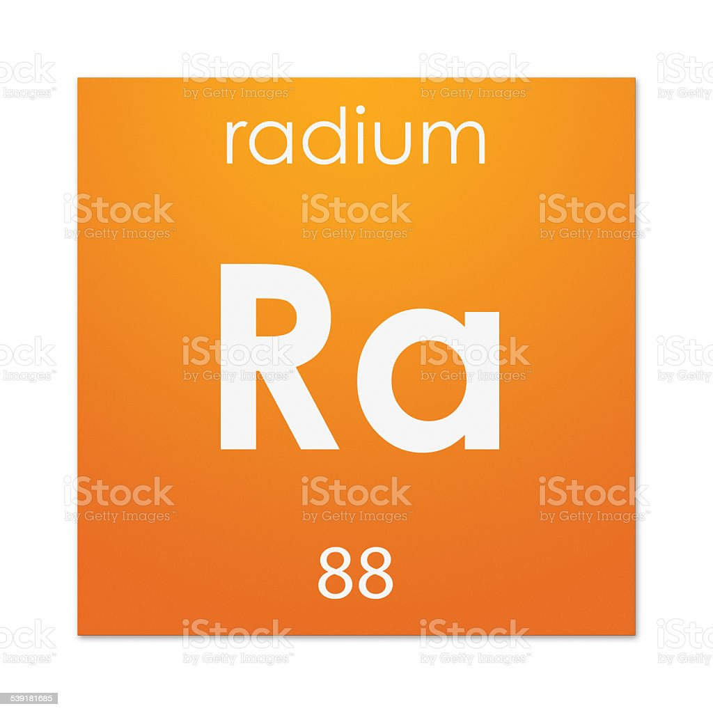 Radium (chemical element) stock photo
