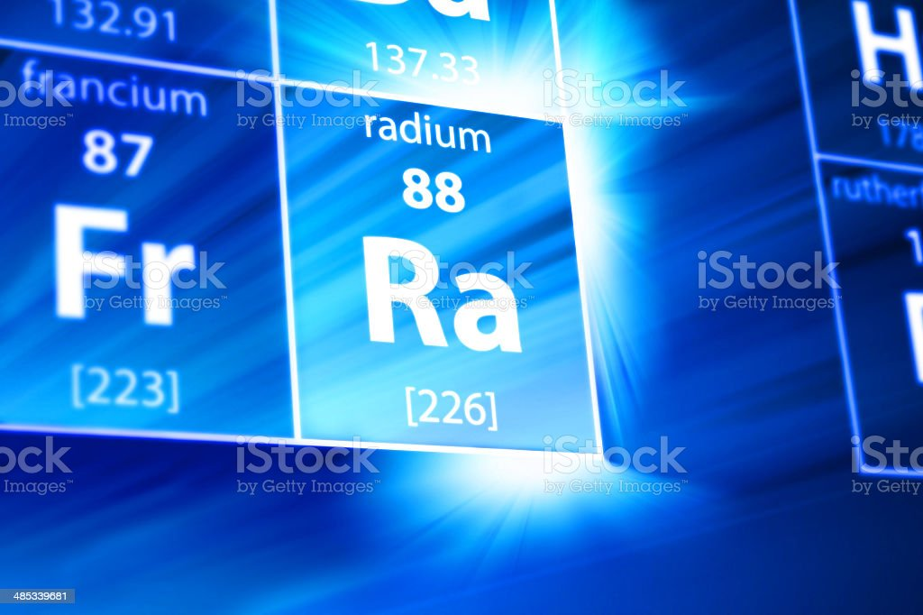 Radium Ra Periodic Table stock photo