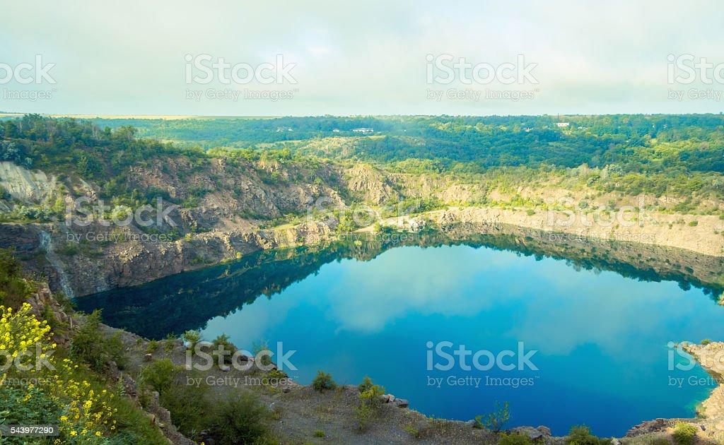 Radon Lake in Migiya Ukraine stock photo