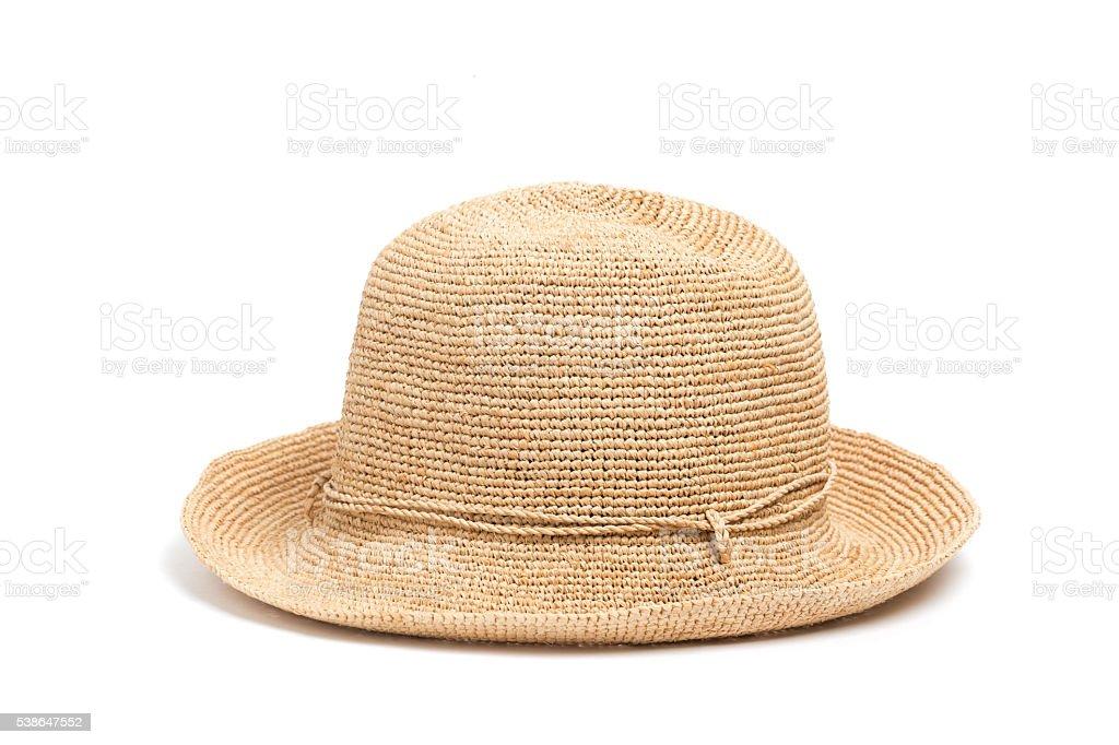 Raffia hat for women stock photo