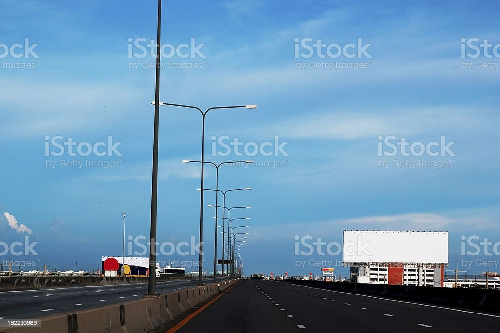 raffic over the river royalty-free stock photo