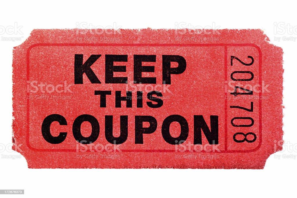 Raffle Ticket royalty-free stock photo