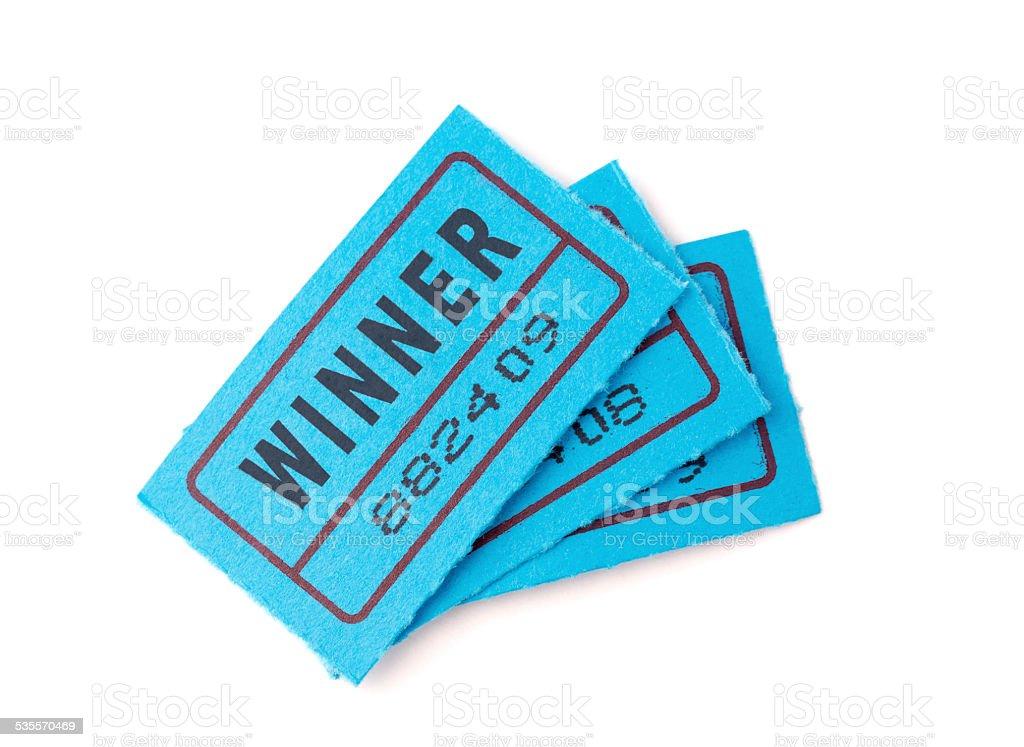 Raffle Ticket Winner stock photo