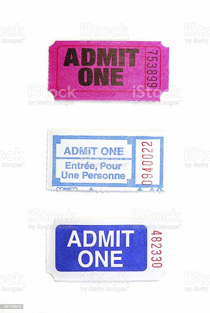 Raffle tickets royalty-free stock photo