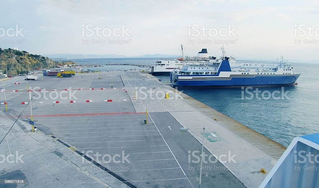 Rafina Port stock photo