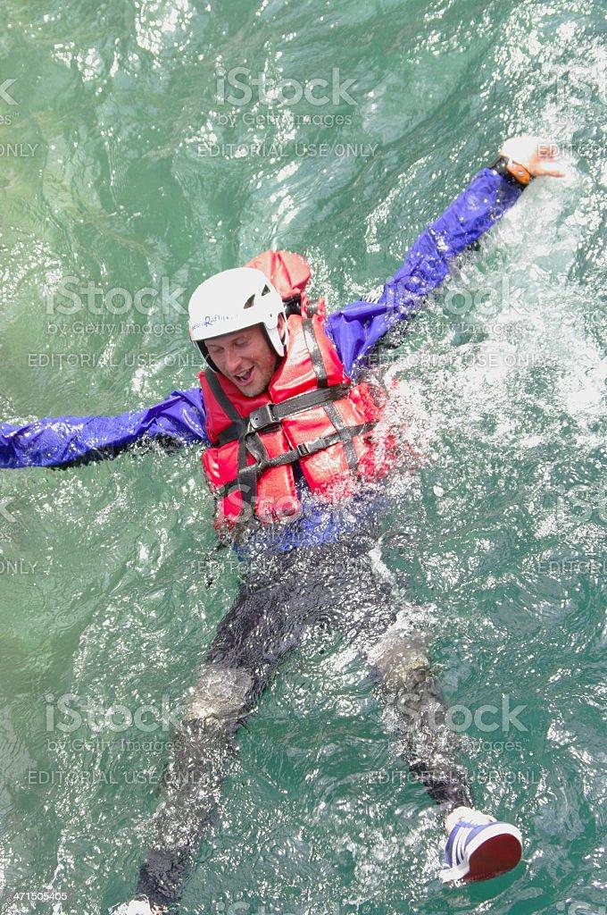 Rafing man royalty-free stock photo