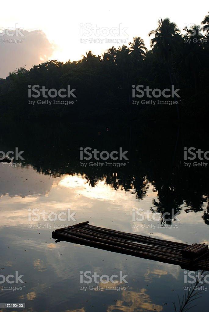 raft on lake royalty-free stock photo