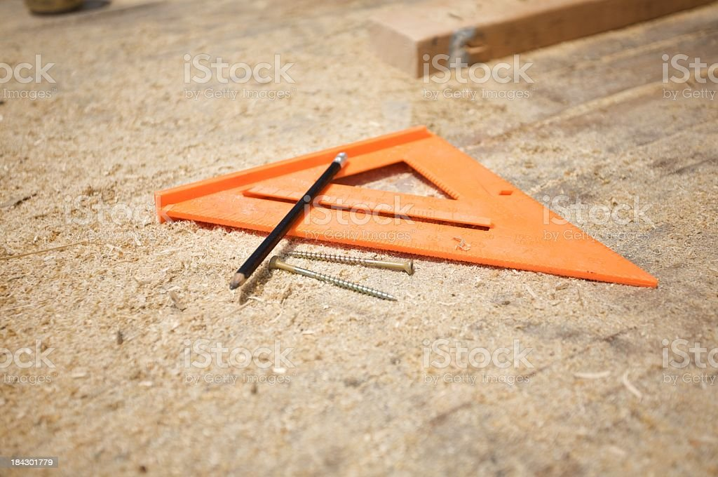 Rafter angle square stock photo