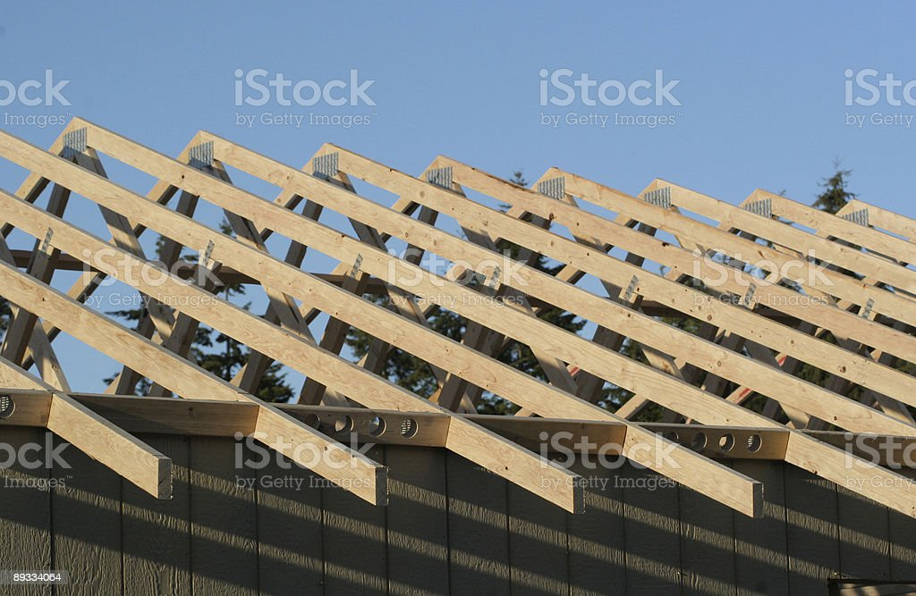 Rafters During Construction stock photo
