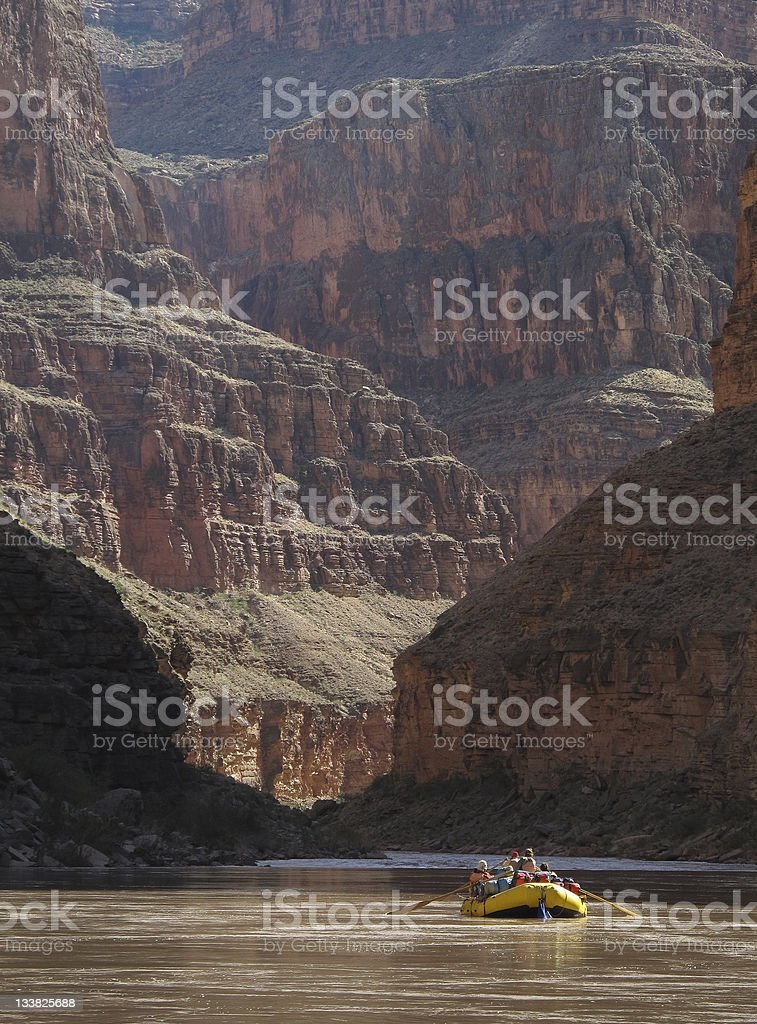 Rafters in Grand Canyon stock photo