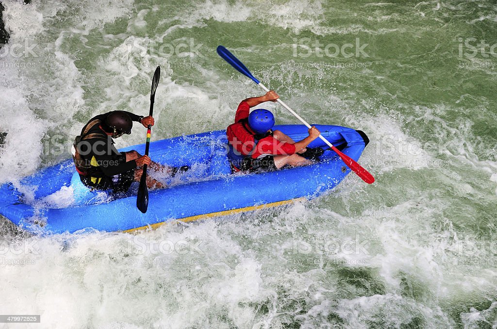 Rafters on Rapids stock photo