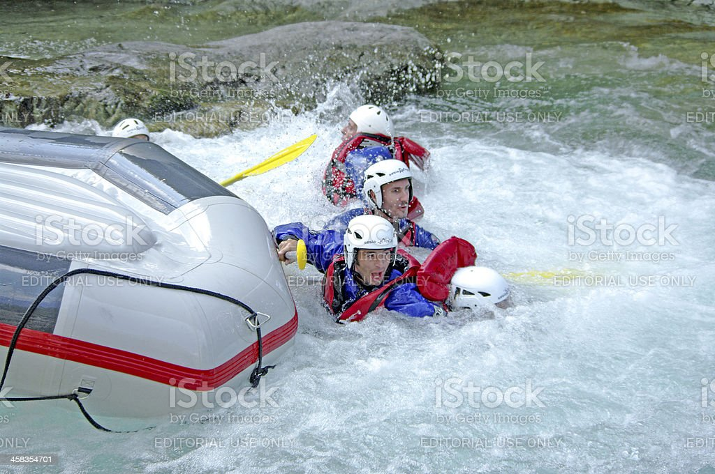 Rafting accident royalty-free stock photo