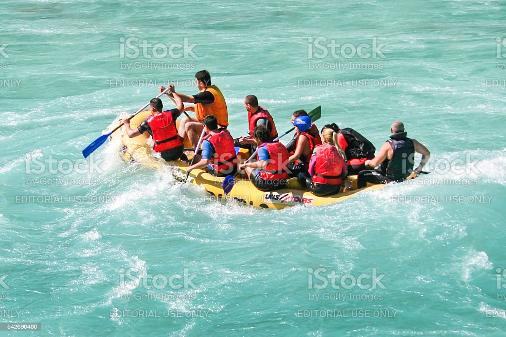 Rafting adventure stock photo
