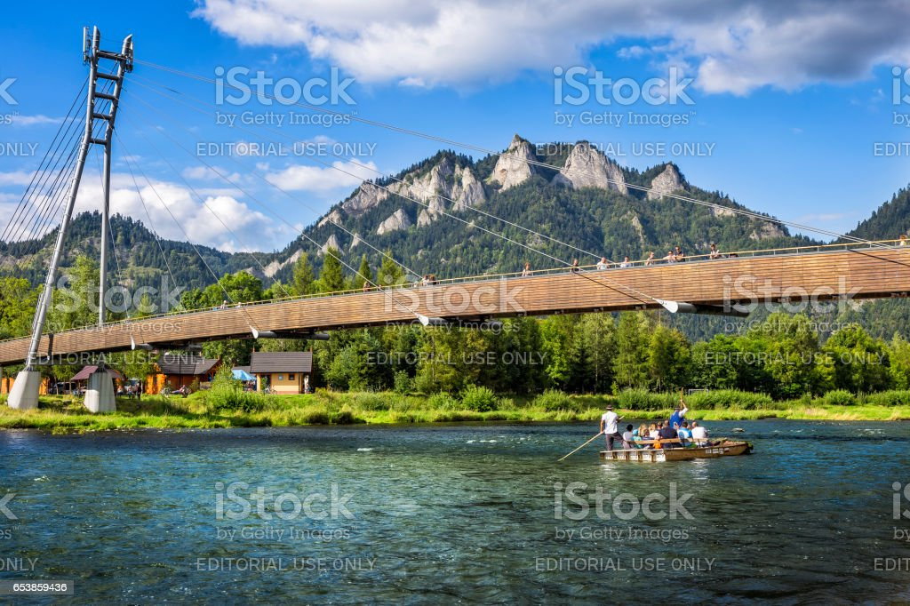 Rafting at river Dunajec, Poland stock photo