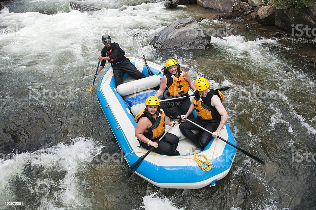 Rafting in Colorado royalty-free stock photo