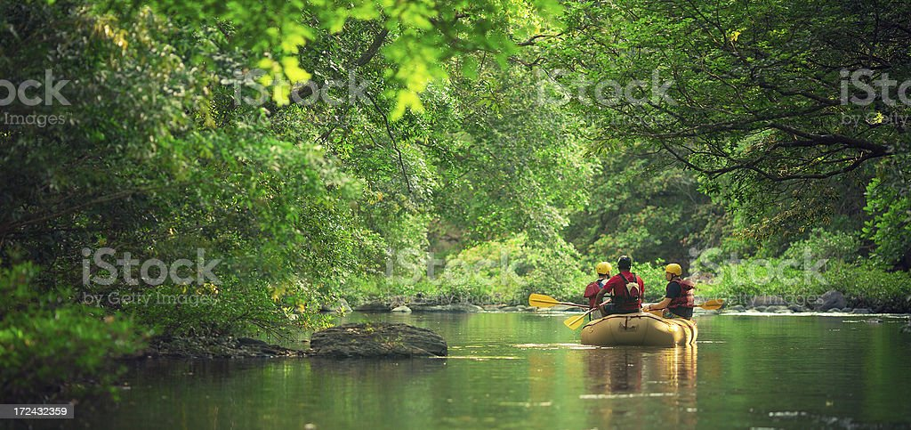 rafting in costa rica stock photo