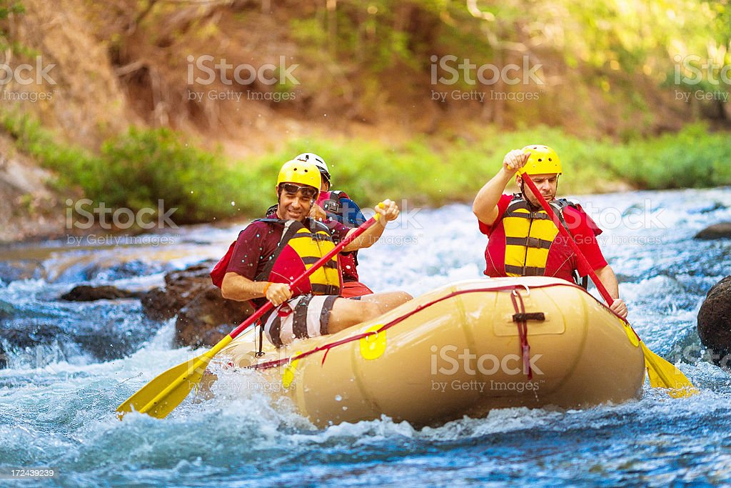 rafting in costa rica royalty-free stock photo