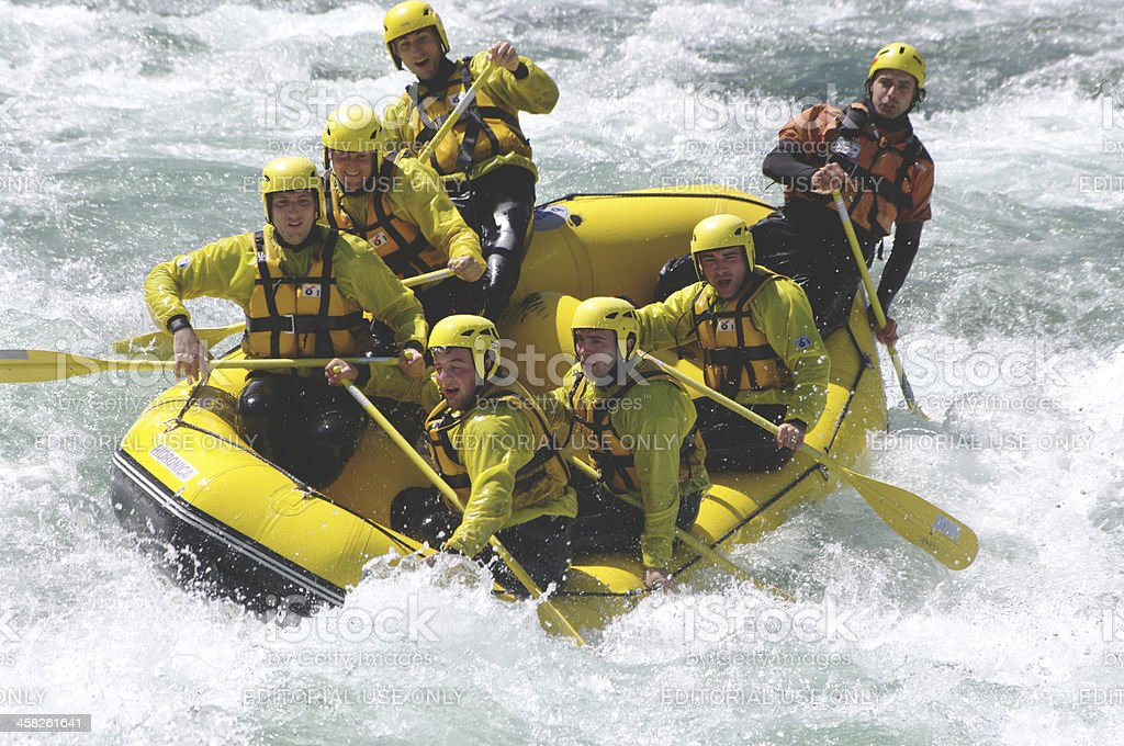 Rafting in Sesia river royalty-free stock photo