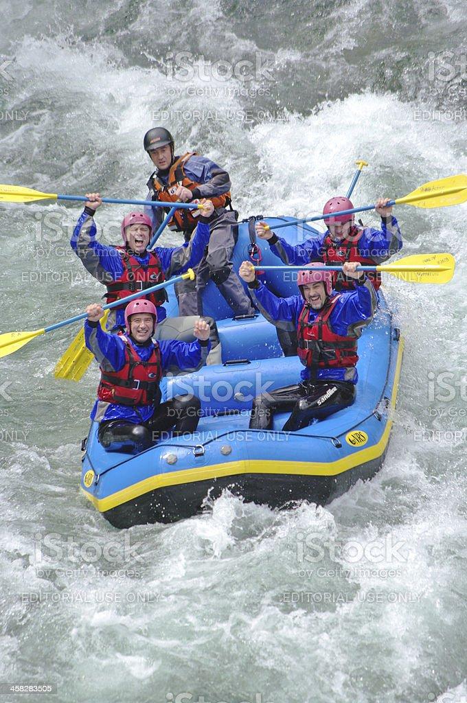 Rafting in Valsesia royalty-free stock photo