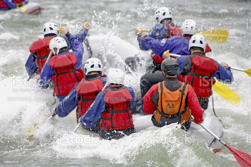 Rafting in Valsesia royalty-free stock photo