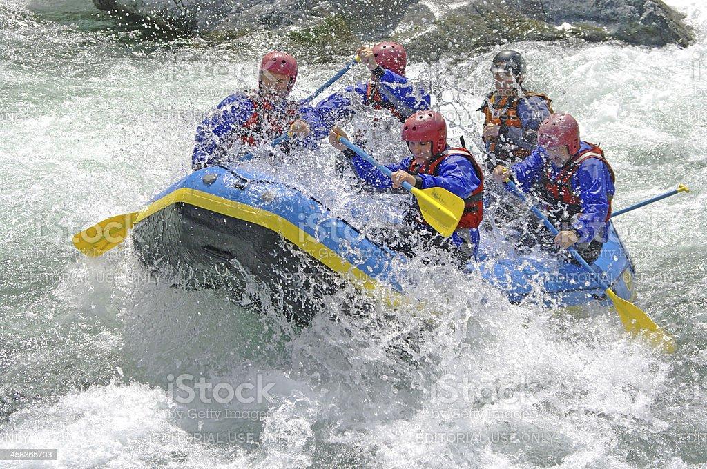 Rafting in Valsesia stock photo
