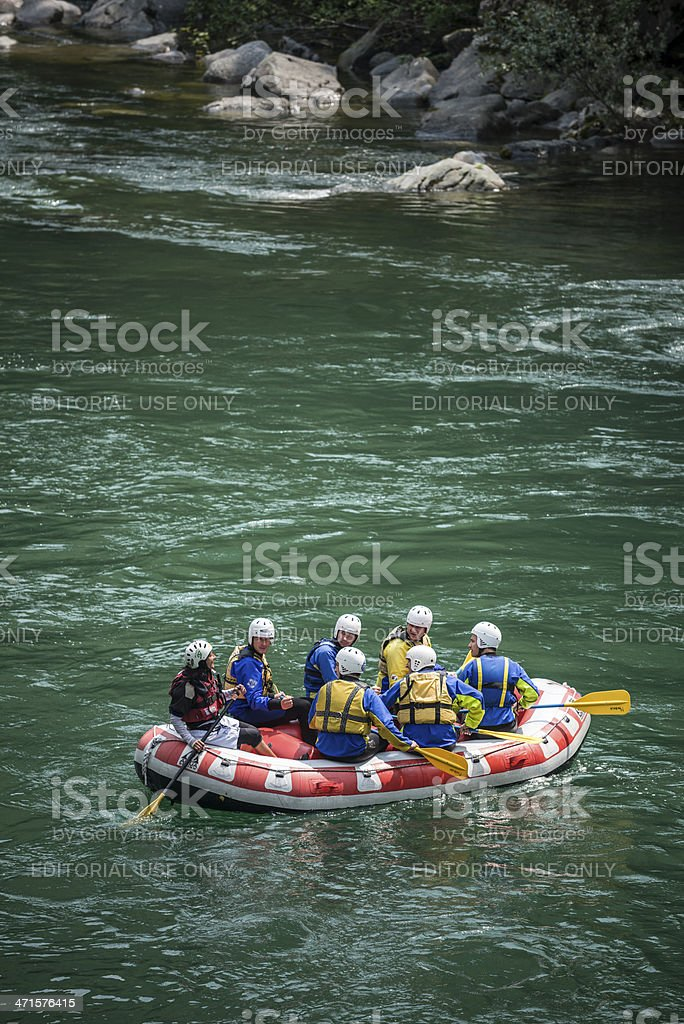 Rafting lesson royalty-free stock photo