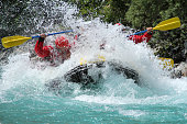 Rafting on So?a river Slovenia